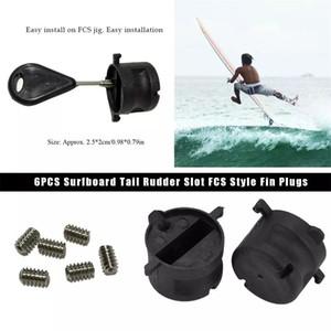 6 unids / set Estándar Estándar de alta calidad Tailera de surf Rudder Slot FCS STYLE FIN FLUTS CAJA DE CHADUROS DE CORREA G5 CON TORNILLOS Llave de llave para toda la base de aleta FCS