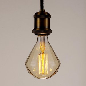 Edison Bar Restaurant Christmas Holiday Party Wedding Retro Creative Personality Decoration Amber Bulb Diamond Retro Tungsten Wire Bulb