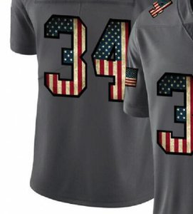 Professional Custom Jerseys OAK 4 28 34 Embroidered Carbon Black Retro Flag Limited Mens American Football Jersey A