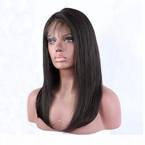360 pelucas delanteras de encaje pre arranque natural recta natural virgen barato brasileño sin glúneles 360 frontal encaje lleno de encaje humano peluca para mujeres negras