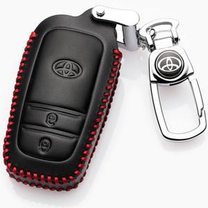 Uygulanabilir / Toyota Highlander Deri Kılıf 5-Koltuk 7-Koltuk Bir Başlat Akıllı Anahtar CaseXQTC