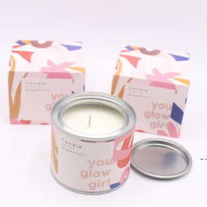 Long Lasting Scented Candles Individual Package Grapefruit Pomegranate Vanilla Soy Wax Scented Candles Gifts for Her DHA3916