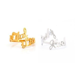 Ring Name DIY personality stainless steel English letter