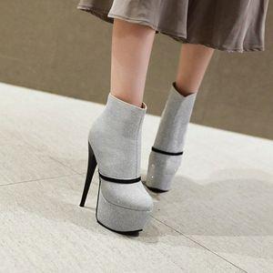 Blxqpyt damas tamaño grande 31 48 mujer corta botas de tobillo mujer sexy super alto tacones 16 cm fiesta de boda zapatos bombas 66 1 tacones bota d7vz #