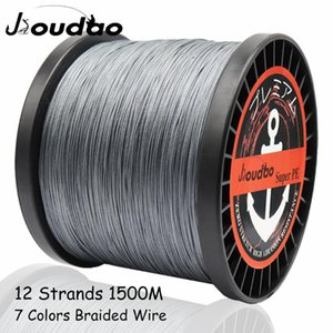 Jioudao 12 Strands 1500M Superior PE Braided Fishing Line Japan Multi Colour Saltwater Fishing Weave Wire 40LB 90LB 120LB 205LB