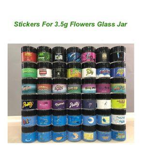 3.5g Flowers Glass Jar label bakpack boyz jungle boys runtz Sharklato stikcers For 1G Shatter Jars zkttlez