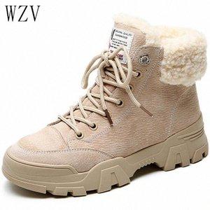 2019 novo inverno neve botas curtas para meninas feminino feminino flush boots short plus veludo sapatos de algodão H481 Q65T #