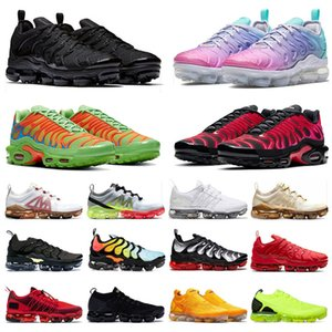2020 PLUS tn Stock x Shoes BÜYÜK BEDEN 47 MOC laceless FLYKNIT 2019 Run Utility Yeni erkek bayan koşu ayakkabı Pastel tasarımcı sneakers eğitmenler