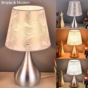 Modern Bedside Lamps 110V-240V LED Desk Lamp with E27 Bulb Table Lamps For Home Bedroom Living Room Lighting White Lght