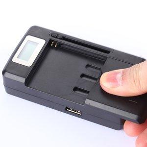 Evrensel Akıllı LCD Gösterge Pil Şarj Samsung S4 I9500 S3 I9300 Not 3 S5 USB Çıkışı Şarj Ile ABD AB Tak