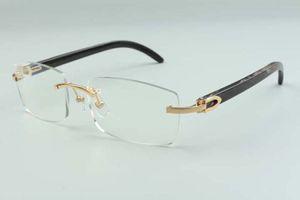 2021 new style high-end designers glasses 3524012 for men women natural black textured buffalo horns glasses frame, size: 36-18-140