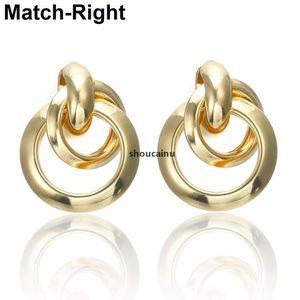 JH Match -Right -Right Gold / Argent / Couleur Boucles d'oreilles à la mode pour Femmes Déclaration / Rond / Cercle / Coréen / Boucle d'oreille OOORBELLEN BRINCOS SP576