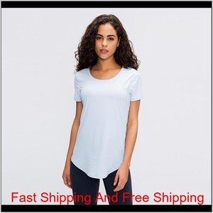 Ladies Fitness Running Quick-drying Breathable Reflective Sports Short Sleeve Yoga T-shirt Lu-58 Seamless Workout W qylkKK hx_pack