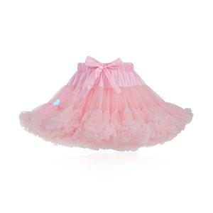 Pluizige 핑크 시폰 Pettiskirts 얇은 명주 그물 파티 댄스 Tutu Rok Girls Lolita Petticoat Womens Faldas Mujer Fashion