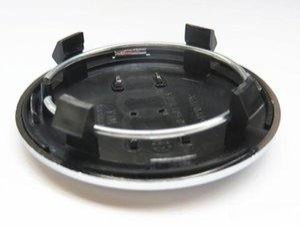 100pcs 69mm gray black Wheel Center Cap Hub Caps Covers Badge Emblem For A6 C6 Rims 4B0601170A car styling Accessories