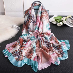 2021 spring and autumn new warm women's fashion sunscreen silk scarf holiday decoration air conditioning shawl XKVC