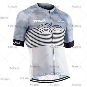Strava Jersey MTB Jerseys Homens Equipe 2021 Verão Pro Road Downhill Bicicleta Ciclismo Wear Bike Camisas
