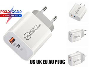 18W Fast USB Charger Quick Charge Type C PD Fast Charging For iPhone EU US Plug USB Charger With QC 3.0 Phone Charger