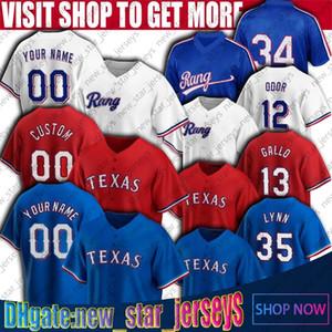 12 Rougned Odor 13 Joey Gallo Jersey Texas Baseball Kyle Nate Lowe David Dahl Jerseys Nick Solak Leody Taveras Jersey Trevino