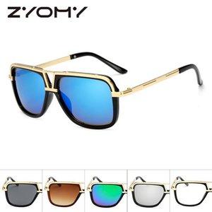 F 2021 Mode Retro Marke Designer Spiegel Sonnenbrille Frauen Vintage Unisex Männer Brille Fahren Gläser UV400