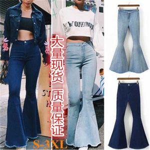 Slim Sexy High Waist Flared Jeans