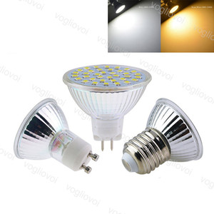 Lâmpada LED SMD2835 48LED 60LED 80ld vidro de quartzo 110V / 220VGU10 MR16 Lâmpada interna 80ra para cristal candelabros pingente luzes do piso eub