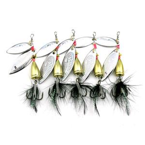 Metal SpinnerBaits Глубокое дайвинг рыболовные джиги приманки 7,8 см 11G лазерный спиннер виб лезвия рыболовные приманки