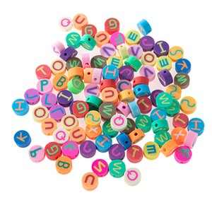 English Letter Bead Loose Beads Mix Colors Accessories Beads Round Beads For Bracelet Jewelry DIY Findings
