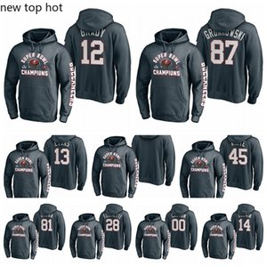 12 Tom Brady 87 Rob Gronkowski 13 Mike Evans TampaBahíaBucanerossúperbolSuperior lateral Pass Pullover Football Hoodie