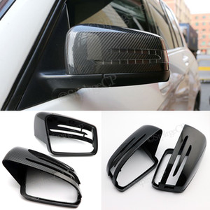 Side Mirror Cap Covers For Mercedes Benz W176 W246 W212 W204 C117 X156 X204 W221 C218 A B C E S CLA GLA GLK Class Black Replace