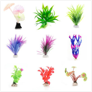 Submersible Aquatic Fish Tank Grass Ornament Plant Aquarium Background Beautiful Plastic Artificial Aquarium Plants Decoration