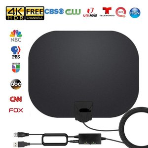 TV Antenna Amplified HD Indoor Digital TVs Antennas Long 300 Miles Range Antena Support 4K 1080p FOX NBC CNN ABC Local Channel