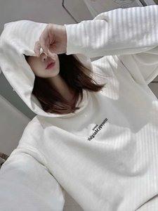 Maison MM6 Margiela 20aw reversible embroidery letter loose men's and women's Hooded Sweater