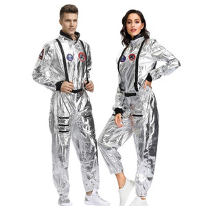 2021 New Arrival Adult Astronaut Space Jumpsuit Halloween Cosplay Party Pilots Couple Costume Cx200817