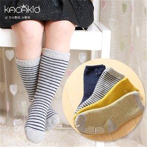 Kacakid invierno unisex niños calcetines rayas niños niños niñas niños calcetines algodón antideslizante cálido niños bebé niños calcetines ka1009 y0123