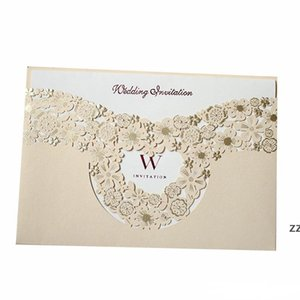 Marry Invitation Card Hollowing Out Greeting Cards Gold Wedding Decorate Supplies Creative Photo Special Cardboard HWE9407