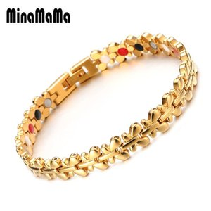 Butterfly Design Stainless Steel Germanium Magnetic Bracelets for Woman Men Health Energy Arthritis Therapy Bracelet Jewelry