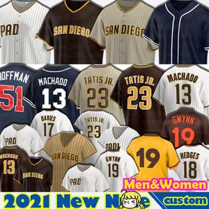 23 Fernando Tatis Jr. Jerseys 13 Manny Machado 19 Tony Gwynn 51 Trevor Hoffman San Diego Baseball Yu DarVish Femmes Eric Hosmer Profar