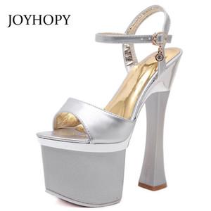 Joyhopy летний сексуальный ужин на высоких каблуках женщин сандалии мода лодыжки ремешок платформы обувь вечеринка ночной клуб толстые каблуки обувь WS1678