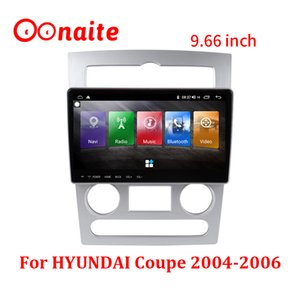 Car Navigator For Hyundai Coupe 2004-2006 9.66 Inch Touch Screen Android 10 HD DVD Video Player Smart Voice Radio GPS Navigation