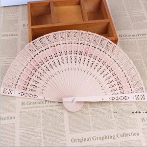 Folding Wooden Carved Craft Hand Fans Chinese Classical Wooden Fan For Home Decoration Crafts Souvenir Gifts wedding favors EWA8813