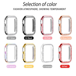 Suitable for iwatch protective sleeve electroplating PC diamond case 234 generation Apple watch case diamond 5 generation