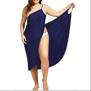 5XL Women Sexy Beach V Neck Sling Dress 2021 Summer Backless Swimwear Cover Up Wrap Female Tropical Dresses Plus Size