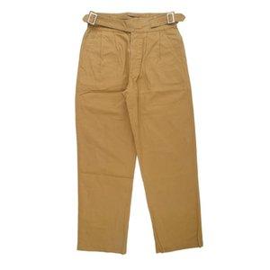 Men's Pants Solid Color Gurkha Mens Safari Style Casual Loose Straight-leg Trousers Men