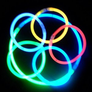 20cm Multi Color Glow Stick Bracelet Necklaces Neon Party LED Flashing Light Wand Novelty Toy Vocal Concert Flash