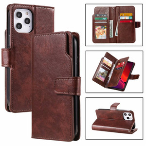 Phone Case 9 Card Leather Wallet Phone Case Stand Cover Cases For iPhone 12 11 pro Max XS MAX XR 7 8 S20