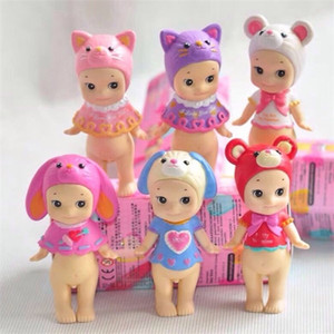 Cute Kewpie Doll Valentine's Day Edition Sonny Angel Animal Action Figure Toys Fox Dog Mouse Original Limited 1 PCS 8 CM C0220