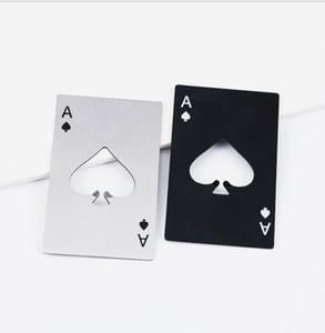 Abridor de garrafa de aço inoxidável, Bar Cooking Poker Playing Cartão de Ferramentas Espadas, Mini Carteira Cartões de Crédito Abridores