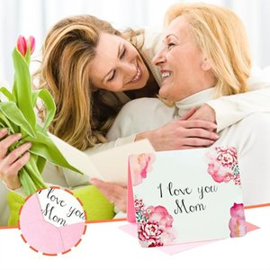 Mothers Day Card Creative Greeting Carnation Pattern Gift For Mother Cards