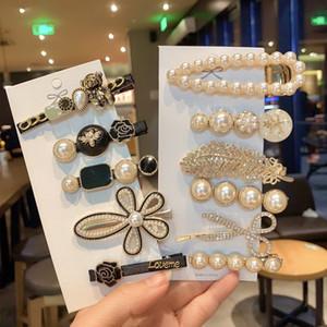 Mädchen Schmuck Mode Haarnadeln Simulierte Perlensperre Perlen Geometrische Frauen Haarspange Haargriff Haarschmuck Zubehör